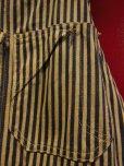 """画像6: 1930'S DICKIES """"SWASTIKA TAG"""" EXTRA STRIPE OVERALLS 34X32"""