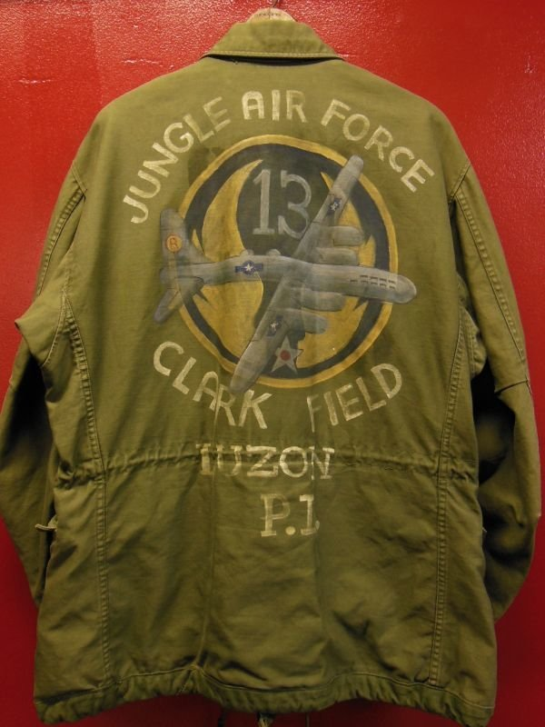 画像1: 1952'S 13TH AIR FORCE HAND PAINTED M-1951 FIELD JACKET/MED-SHORT