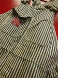"1930'S DICKIES ""SWASTIKA TAG"" EXTRA STRIPE OVERALLS 34X32"