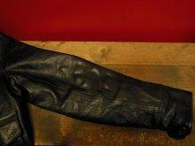 他の写真3: USED HIMEL BROTHERS LEATHER HERON 1929/BLACK HORSEHIDE/SIZE-36/ボタンフロント ホースハイド A-1 ジャケット