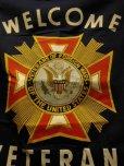 """画像3: NOS 1950'S~ V.F.W. """"VETERANS OF FOREIGN WARS"""" WELCOME BANNER"""