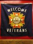"""画像1: NOS 1950'S~ V.F.W. """"VETERANS OF FOREIGN WARS"""" WELCOME BANNER    (1)"""