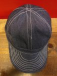 画像8: 極少量再入荷!NEW! MONSIVAIS & CO Workers Cap- Cone Mills Selvedge denim  (8)