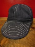 画像9: 極少量再入荷!NEW! MONSIVAIS & CO Workers Cap- Cone Mills Selvedge denim  (9)