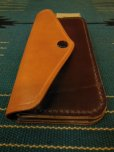 画像2: RAWHIDE TRUCKERS WALLET LOT-504/CAMEL X D,BROWN/UK BRIDLE By J & FJ Baker & Co, (2)