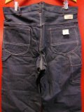 1960'S DEADSTOCK MW POWR HOUSE BATDYED DENIM PAINTER PANTS SZ/36X32