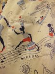 画像11: 1950'S〜 NASSAU IN THE BAHAMAS PRINTED COTTON LEISURE SHIRT SZ/M