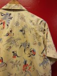 画像15: 1950'S〜 NASSAU IN THE BAHAMAS PRINTED COTTON LEISURE SHIRT SZ/M