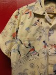 画像3: 1950'S〜 NASSAU IN THE BAHAMAS PRINTED COTTON LEISURE SHIRT SZ/M  (3)
