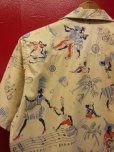 画像14: 1950'S〜 NASSAU IN THE BAHAMAS PRINTED COTTON LEISURE SHIRT SZ/M