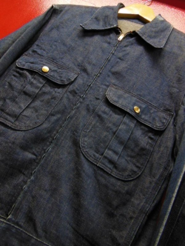 画像1: 1940'S〜 UNKNOWN DENIM WORK JACKET/SZ/MEDIUM