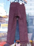 画像10: 1930'S DEADSTOCK UNKNOWN PRINTED CORDS TROUSERS YOUTH12 25.5X26