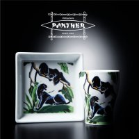 """Attractions -Hasami Ware- 波佐見焼 """"PANTHER""""  Cup & Plate Set"""