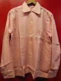 1950'S DISTINCTIVE SPORTSWEAR FLECK PINK RAYON SHIRT SZ/M/カスリ ネップ柄