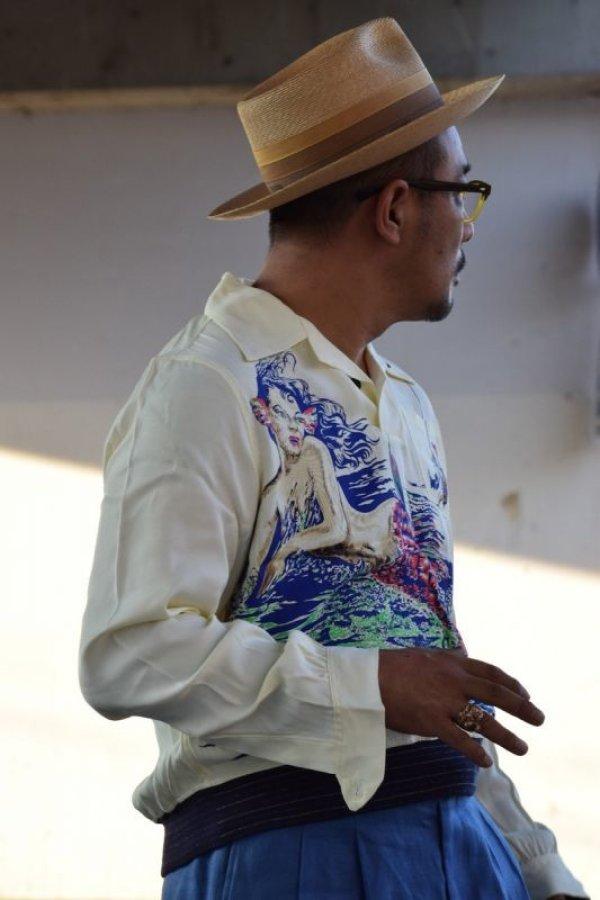 画像2: The GROOVIN HIGH A287 2021S/S 1940's Rayon Pullover Shirt L/S Made to order 12月13日迄予約受付 2021年3-4月納品予定