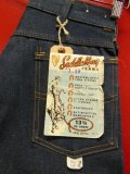 1960'S~ DEADSTOCK KEY SADDLE KING 13-3/4 OZ DENIM JEANS/SIZE 30X32