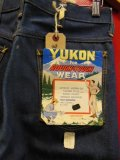 1960'S NOS YUKON FOR ROUGH & TOUGH WEAR JEANS Lot-487/SIZE 30X28