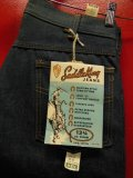 1960'S~ DEADSTOCK KEY SADDLE KING 13-3/4 OZ DENIM JEANS/SIZE 33X36