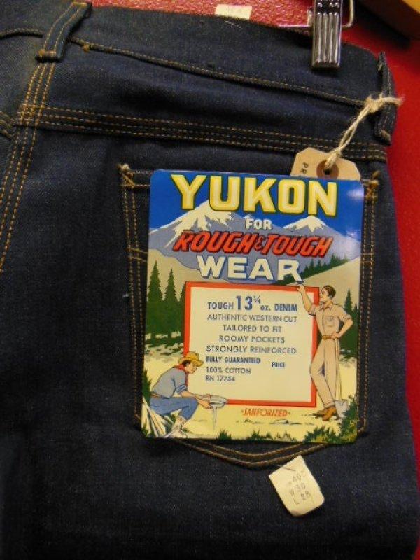 画像1: 1960'S NOS YUKON FOR ROUGH & TOUGH WEAR JEANS Lot-407/SIZE 30X28