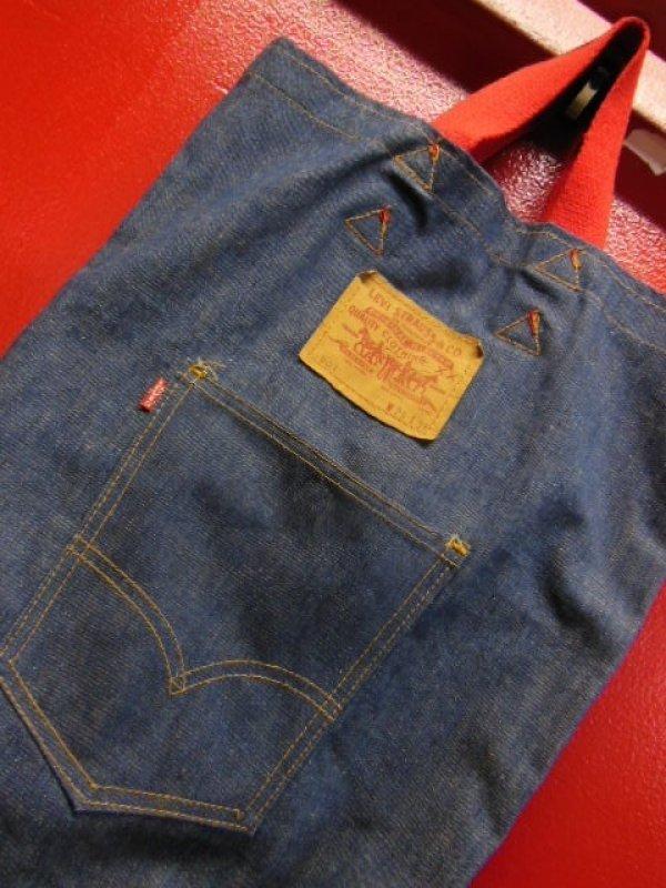 """画像1: 1970'S LEVI'S Small""""e"""" DENIM TOTE BAG ビンテージ リーバイス デニムトートバック"""