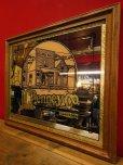 画像2: 1970'S J.C.PENNEY CO. GOLDEN RULE STORE ADVERTISING WOOD FRAMED MIRROR (2)