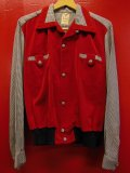 1950'S WESTWOOD CASUALS VELVET PANELED RAYON PULLOVER SHIRT SIZE/L