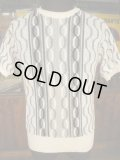 1950'S BRENT COTTON CABLE SUMMER KNIT SZ/M
