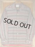 1950'S A GALEY & LORD COTTON BORDER SHIRT SZ/S