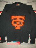 1940'S〜  BLACK LETTERMAN SWEATER