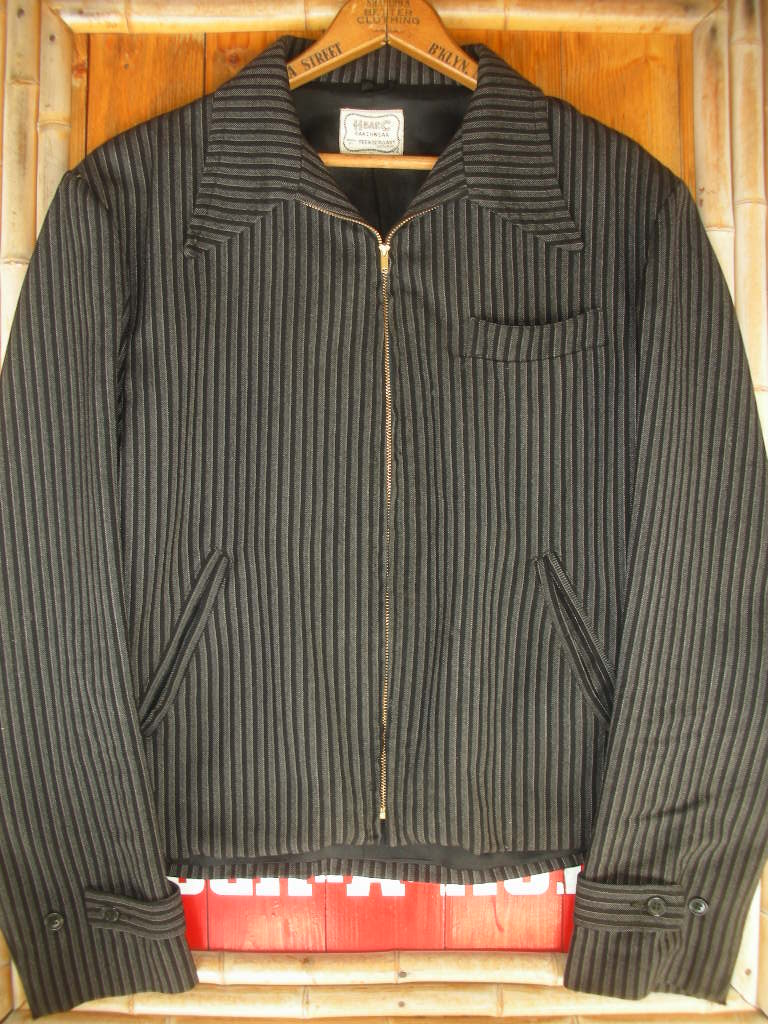 1940 S H Bar C Ranchwear Black Stripe Wool Western Jacket